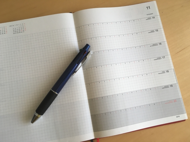 勤務時間とスケジュール表